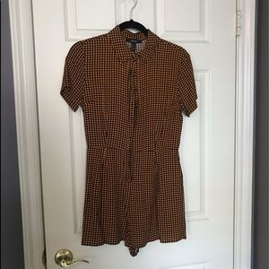 Forever 21 button down houndstooth romper. size S